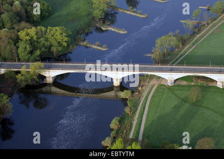 Kemnader Bruecke, Bridge over Ruhr river between Witten and Bochum, Germany, North Rhine-Westphalia, Ruhr Area, - Stock Photo