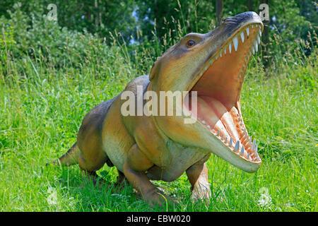 Ambulocetus (Ambulocetus natans), primitive extinct species of wales - Stock Photo