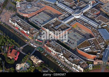 CentrO Oberhausen with food concourse, canal and Japanese Garden, Germany, North Rhine-Westphalia, Ruhr Area, Oberhausen - Stock Photo