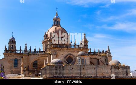 cathedral in Jerez de la Frontera, Spain, Andalusia, Jerez De La Frontera - Stock Photo