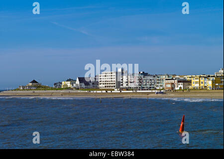 view from North Sea to Norderney, Germany, Lower Saxony, Norderney - Stock Photo