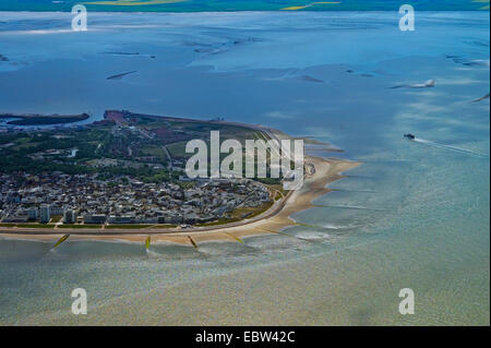 aerial view of Norderney, Germany, Lower Saxony, Norderney - Stock Photo