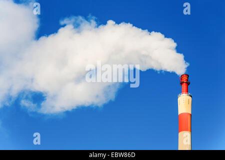 smoking chimney stack, Austria, Vienna - Stock Photo