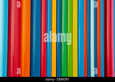 Lines of full spectrum primary colors - Stock Photo