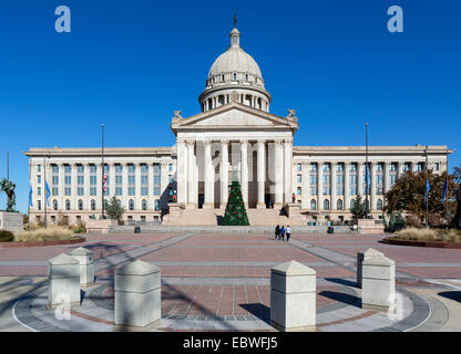The Oklahoma State Capitol, Oklahoma City, OK, USA - Stock Photo