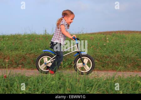 girl on a running wheel, Switzerland