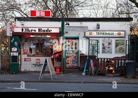 typical kiosk in Bochum Hordel, Germany, North Rhine-Westphalia, Ruhr Area, Bochum - Stock Photo