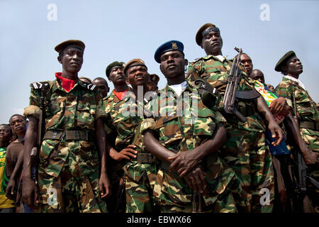 military parade at Independence Day (Juli 1), Burundi, Bujumbura Marie, Bujumbura - Stock Photo