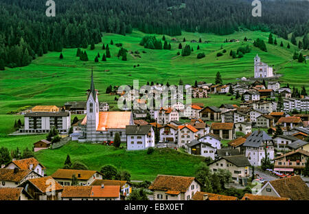 Mountain village Balzers in Liechtenstein, Liechtenstein, Balzers - Stock Photo