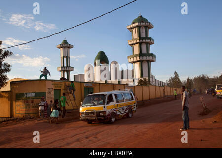 Mosque (the bigges) of Nyamirambo, an area of Kigali where a larger number of Muslims live, repair works are being - Stock Photo