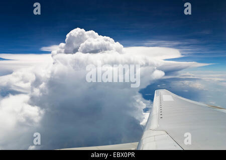 view from an aircraft over India, India - Stock Photo
