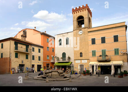 historical town center, Italy, Umbria, Castiglione del Lago - Stock Photo