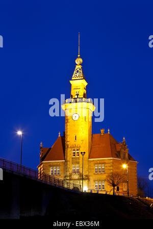 old harbour master┤s office, Germany, North Rhine-Westphalia, Ruhr Area, Dortmund - Stock Photo