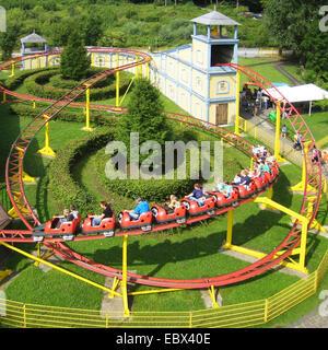 switchback amusement park Beck castle, Germany, North Rhine-Westphalia, Bottrop - Stock Photo