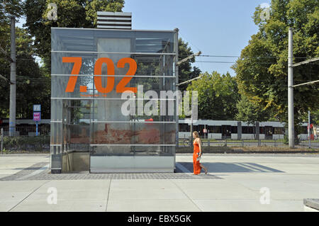 entrance of underground car park im Rheinauhafen, Germany, North Rhine-Westphalia, Cologne - Stock Photo