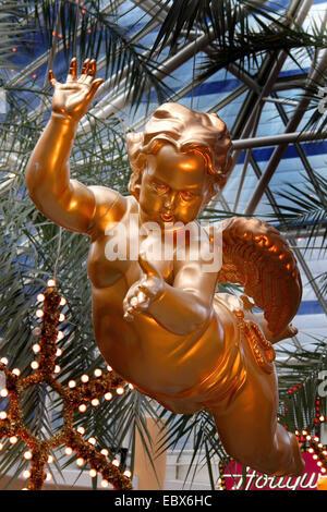Christmas angel in a shopping centre, Austria, Upper Austria, Linz