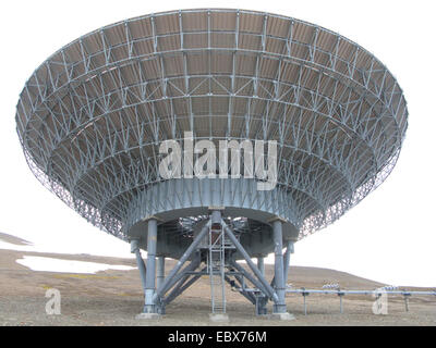 scientific radar system EISCAT, Norway, Svalbard, Longyearbyen - Stock Photo