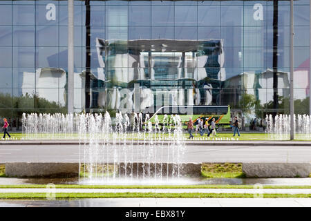 Office of the Federal Chancellor reflect, Germany, Berlin - Stock Photo
