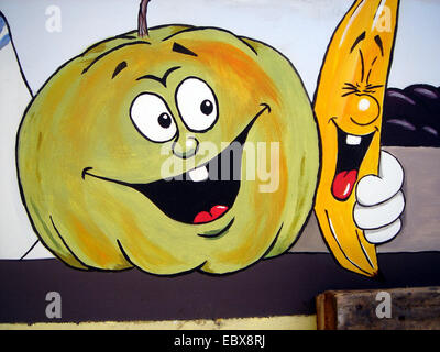 advertisement for fruits and vegetables - Stock Photo