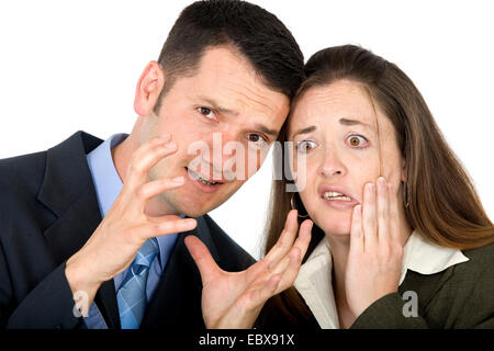 business partners looking very stressed - Stock Photo
