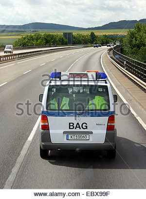 toll check on highway - Stock Photo