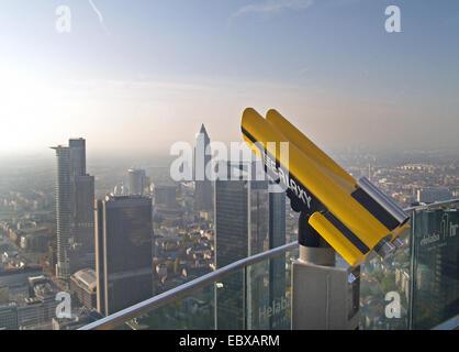 skyline of  Frankfurt a. M., Germany, Hesse, Frankfurt - Stock Photo