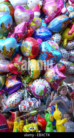 toy balloons on Cranger Kirmes, Germany, North Rhine-Westphalia, Ruhr Area, Herne - Stock Photo