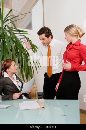 conflict in office - Stock Photo