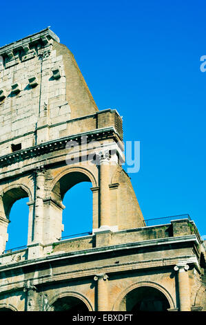 the Flavian Amphitheatre or Coliseum in Rome, Italy - Stock Photo