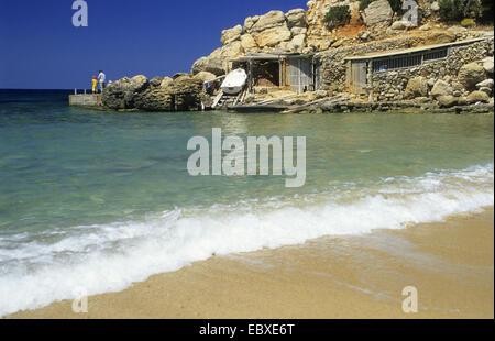 Cala Carbo beach, Spain, Balearen, Ibiza - Stock Photo
