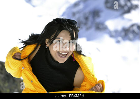 woman on winter holiday, portrait - Stock Photo