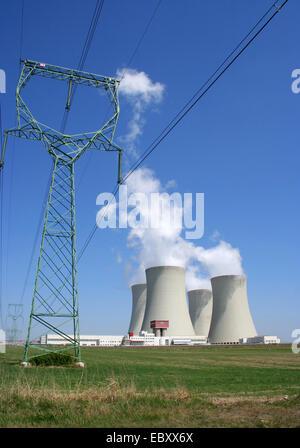 Temelin, atomic power plant, Czech Republic - Stock Photo