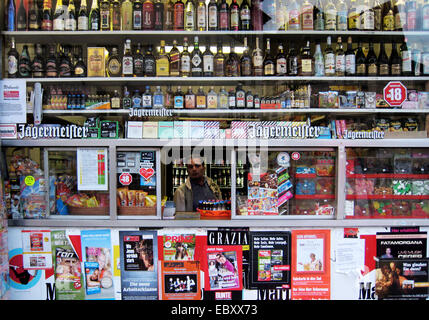 kiosk in Essen, Germany, North Rhine-Westphalia, Ruhr Area, Essen - Stock Photo