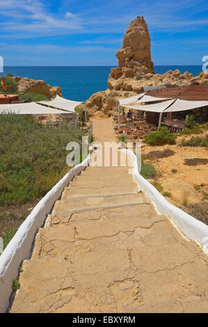Steps, Algar Seco, Carvoeiro, Lagoa, Algarve, Portugal, Europe - Stock Photo