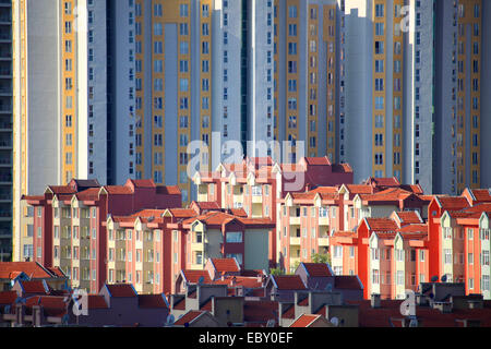 new buildings in a distict of Istanbul, Turkey, Istanbul, Bahcesehir - Stock Photo