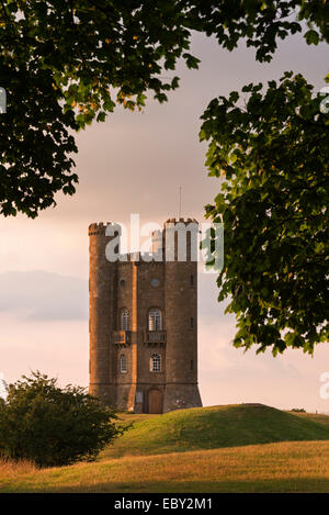 Broadway Tower, one of the Cotswolds most recognisable buildings, Worcestershire, England. Summer (July) 2014. - Stock Photo