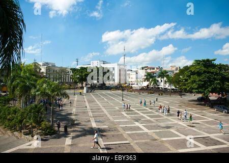 Dominikanische Republik, Santo Domingo, Zona Colonial, Plaza de la Hispanidad, - Stock Photo