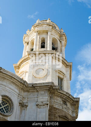 Cadiz Cathedral called La Catedral Vieja de Cadiz or Iglesia de Santa Cruz. Cadiz. Andalusia, Spain - Stock Photo