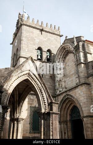 Nossa Senhora da Oliveira church in Guimaraes. - Stock Photo