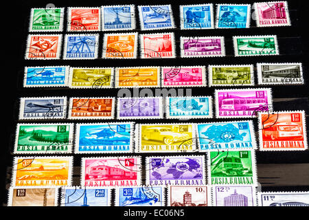 a nice view of Posta Romana stamp, now Romania Republic. - Stock Photo