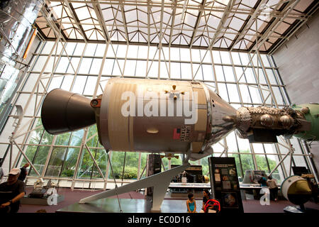 WASHINGTON D.C. - MAY 24, 2014:The Apollo–Soyuz Test Project (ASTP) conducted in July 1975, was the first joint - Stock Photo