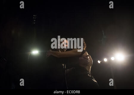 Buenos Aires, Buenos Aires, Argentina. 6th Dec, 2014. Professional and amateur tango dancers take part in the 2014 - Stock Photo