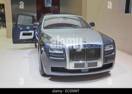 GENEVA - MARCH 8: The Rolls Royce Phantom Spirit on display at the 81st International Motor Show Palexpo-Geneva - Stock Photo