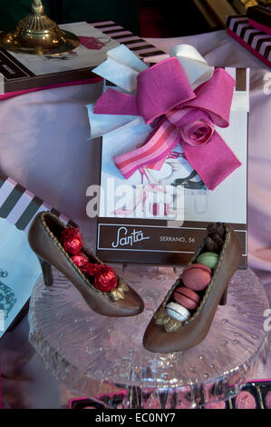 Santa is a shop in Madrid which specializes in chocolate Calle de Serrano  56 Madrid - Stock Photo