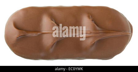 Closeup of chocolate bar isolated on white with clipping path - Stock Photo