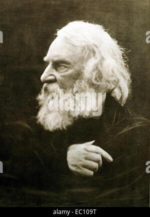 Henry Wadsworth Longfellow American poet - Stock Photo