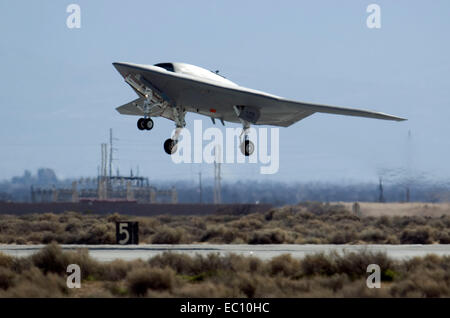 X-47B Unmanned Combat Air System aircraft - Stock Photo