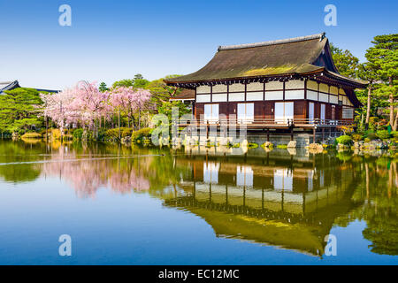 Kyoto, Japan at Heian Temple in the spring season. - Stock Photo