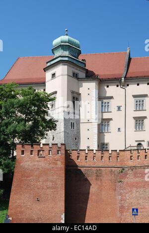 Royal Castle on Wawel Hill of Krakow in Poland. - Stock Photo