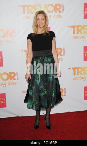 Los Angeles, CA, USA. 7th Dec, 2014. Lisa Kudrow at arrivals for The Trevor Project's TrevorLIVE Los Angeles Benefit, - Stock Photo